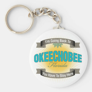 Estoy volviendo a (Okeechobee) Llavero Redondo Tipo Pin
