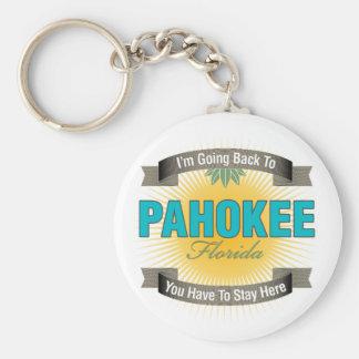 Estoy volviendo a (Pahokee) Llavero Redondo Tipo Pin