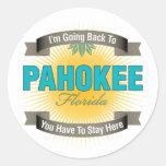 Estoy volviendo a (Pahokee) Pegatinas Redondas