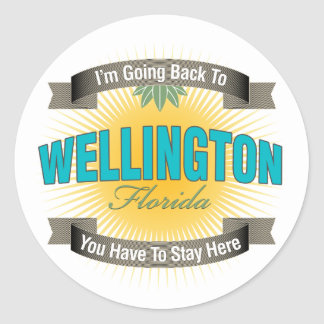 Estoy volviendo a (Wellington) Pegatina Redonda