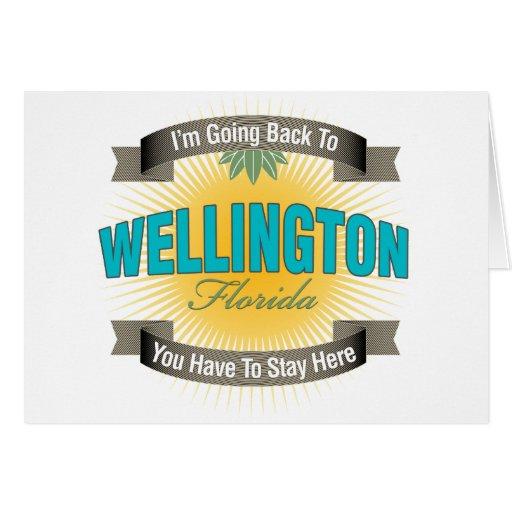Estoy volviendo a (Wellington) Tarjeta De Felicitación
