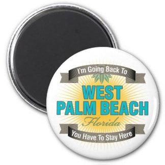 Estoy volviendo a (West Palm Beach) Imán Redondo 5 Cm