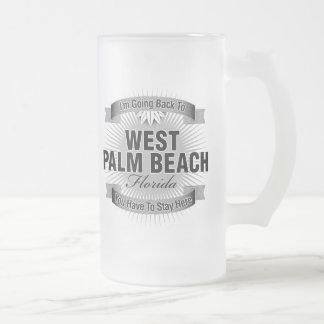 Estoy volviendo a (West Palm Beach) Jarra De Cerveza Esmerilada