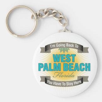 Estoy volviendo a (West Palm Beach) Llavero Redondo Tipo Pin