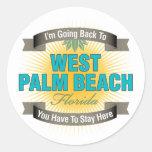 Estoy volviendo a (West Palm Beach) Pegatina Redonda