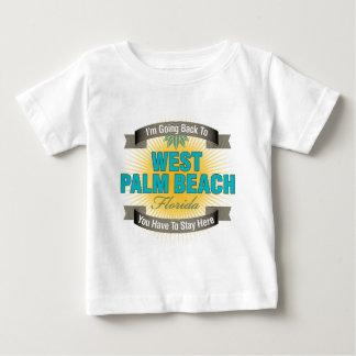 Estoy volviendo a (West Palm Beach) Playera De Bebé