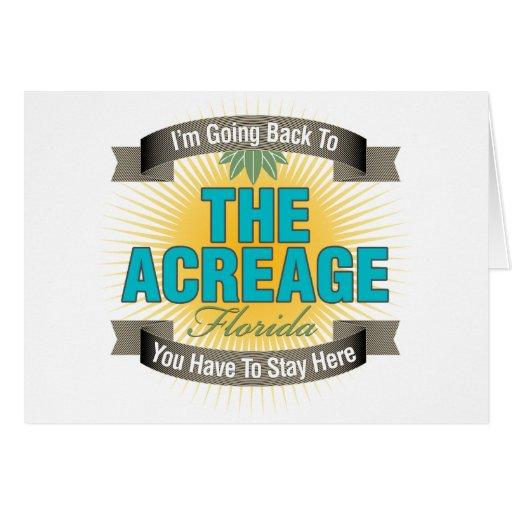 Estoy volviendo (el área cultivada) tarjeta de felicitación