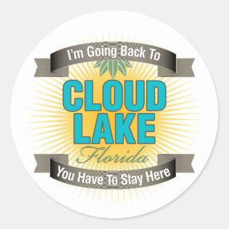 Estoy volviendo (el lago cloud) etiqueta redonda