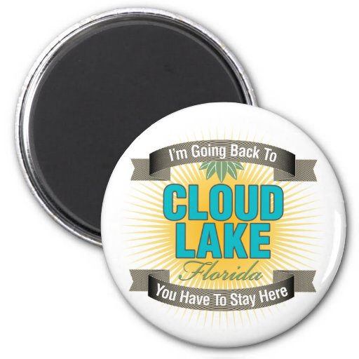 Estoy volviendo (el lago cloud) imán redondo 5 cm