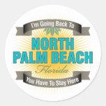 Estoy volviendo (el Palm Beach del norte) Etiqueta Redonda