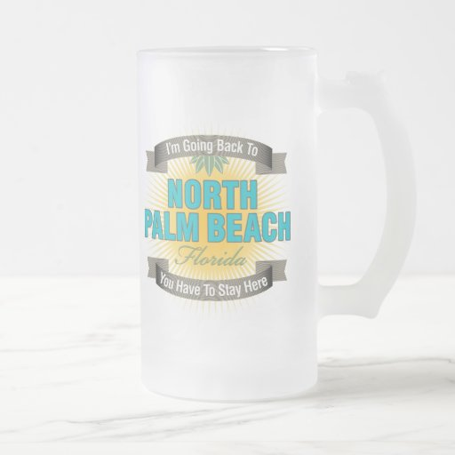 Estoy volviendo (el Palm Beach del norte) Taza Cristal Mate