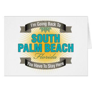 Estoy volviendo (el Palm Beach del sur) Tarjeta De Felicitación