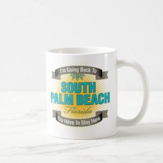 Estoy volviendo (el Palm Beach del sur) Taza Básica Blanca