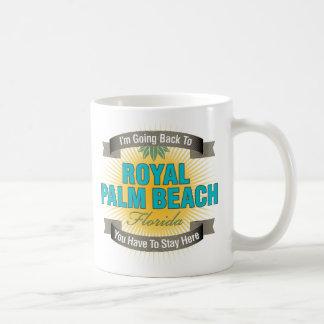 Estoy volviendo (el Palm Beach real) Taza Básica Blanca