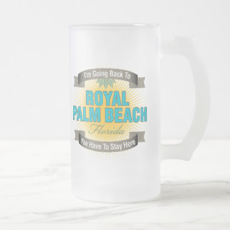 Estoy volviendo (el Palm Beach real) Taza Cristal Mate