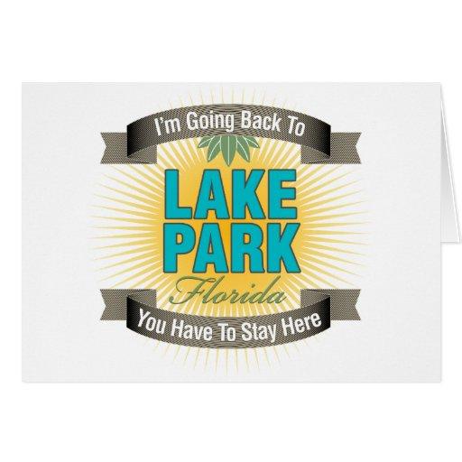Estoy volviendo (el parque del lago) tarjeta de felicitación