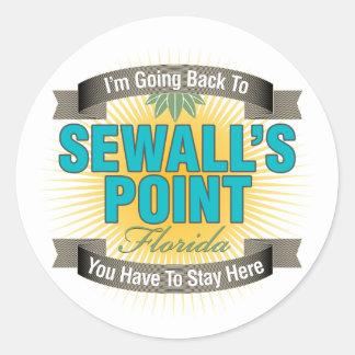 Estoy volviendo (el punto de Sewall) Pegatina Redonda