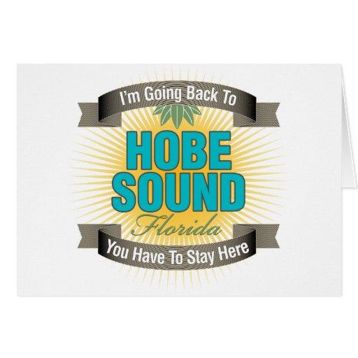 Estoy volviendo (el sonido de Hobe) Felicitacion