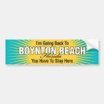 Estoy volviendo (la playa de Boynton) Etiqueta De Parachoque
