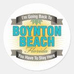 Estoy volviendo (la playa de Boynton) Etiquetas Redondas
