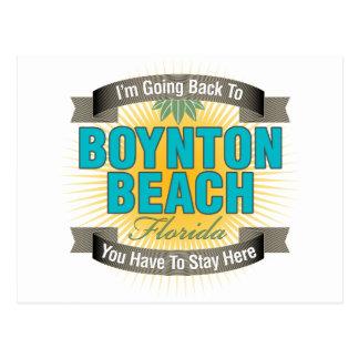 Estoy volviendo (la playa de Boynton) Tarjeta Postal
