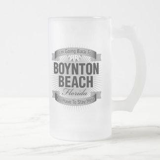Estoy volviendo (la playa de Boynton) Taza De Cristal