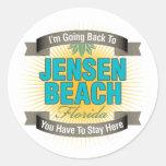 Estoy volviendo (la playa de Jensen) Pegatina Redonda