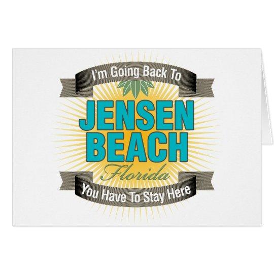 Estoy volviendo (la playa de Jensen) Tarjeta De Felicitación