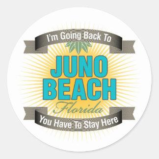 Estoy volviendo (la playa de Juno) Pegatina Redonda