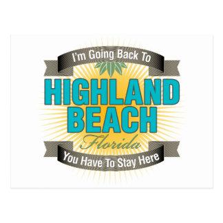 Estoy volviendo la playa de la montaña tarjetas postales