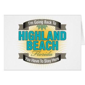Estoy volviendo la playa de la montaña felicitaciones