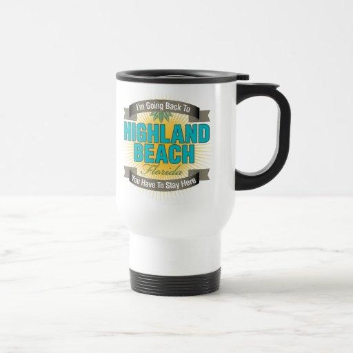 Estoy volviendo (la playa de la montaña) tazas de café