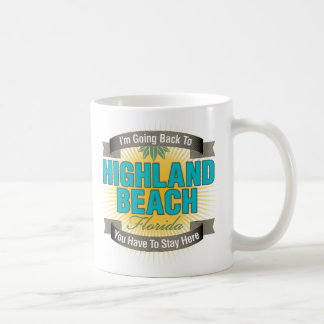 Estoy volviendo (la playa de la montaña) taza básica blanca