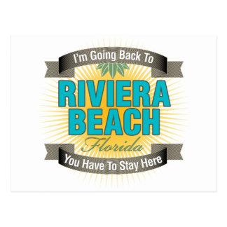 Estoy volviendo (la playa de Riviera) Postal