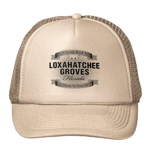 Estoy volviendo (las arboledas de Loxahatchee) Gorras