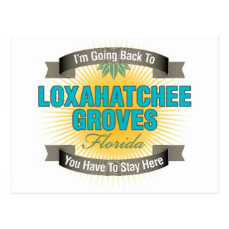Estoy volviendo (las arboledas de Loxahatchee) Tarjetas Postales