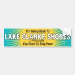 Estoy volviendo (las orillas de Clarke del lago) Etiqueta De Parachoque