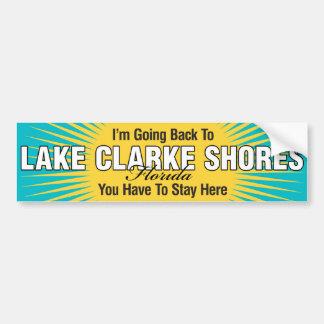 Estoy volviendo (las orillas de Clarke del lago) Pegatina Para Auto