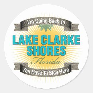 Estoy volviendo (las orillas de Clarke del lago) Pegatina Redonda
