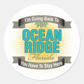 Estoy volviendo (océano Ridge) Pegatina Redonda