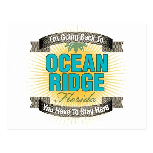 Estoy volviendo (océano Ridge) Postal