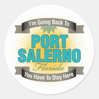 Estoy volviendo (puerto Salerno) Etiqueta Redonda
