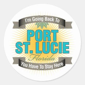 Estoy volviendo (puerto Sta. Lucía) Etiqueta Redonda