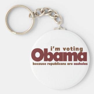 Estoy votando a OBAMA Llavero Redondo Tipo Pin