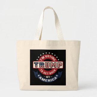 Estoy votando el triunfo para conseguir detrás MI Bolsa Tela Grande