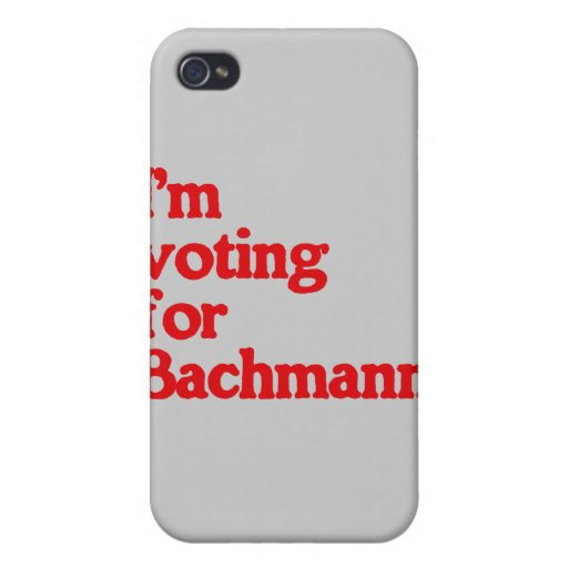 ESTOY VOTANDO POR BACHMANN iPhone 4/4S CARCASAS
