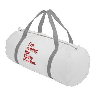 Estoy votando por Carly Fiorina 2016 Bolsa De Deporte