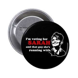 Estoy votando por el botón de Sarah