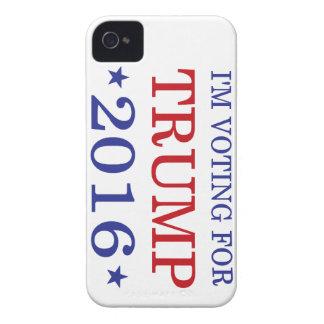 Estoy votando por el triunfo 2016 iPhone 4 Case-Mate cárcasas