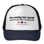 Estoy votando por Sarah Gorras De Camionero